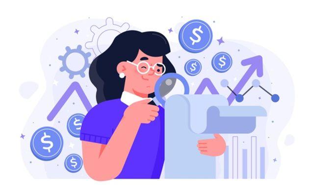 Женщина проводит анализ фондового рынка с целью долгосрочного инвестирования