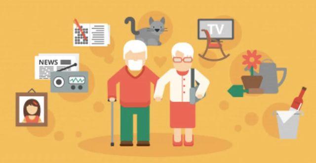 Иллюстрация на тему атрибутов пенсионного возраста