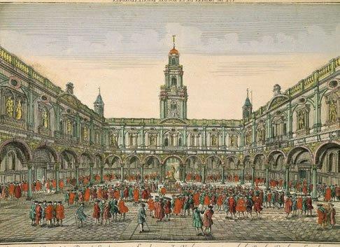 Королевская биржа в Лондоне – гравюра