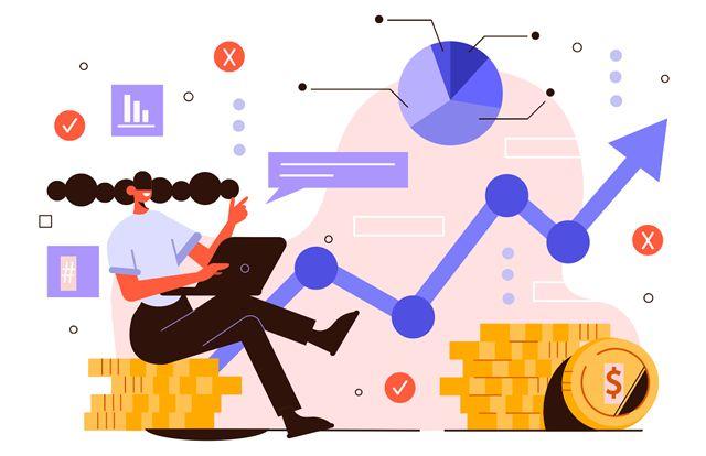Иллюстрация на тему долгосрочного инвестирования в акции