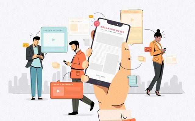 Молодые люди используют свои мобильные устройства для платежей