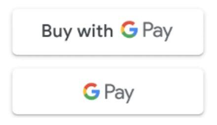 Пример кнопок в приложении для оплаты услуг через Google Pay