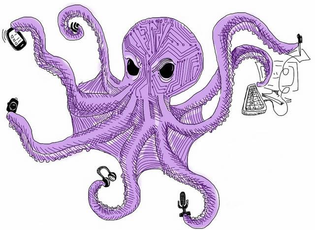 Страшный и коварный интернет осьминог