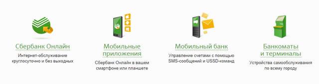 Варианты онлайн обслуживания в Сбербанке России