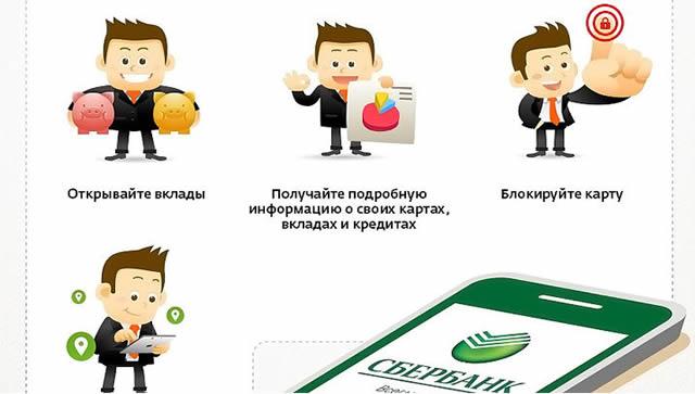 Список преимуществ мобильных приложений Сбербанк ОнЛайн