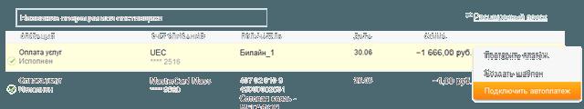 Ссылки для перехода к созданию шаблона или автоплатежа из истории операций Сбербанк ОнЛайн
